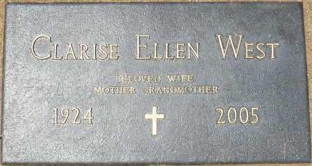 WEST, CLARISE ELLEN - Maricopa County, Arizona   CLARISE ELLEN WEST - Arizona Gravestone Photos