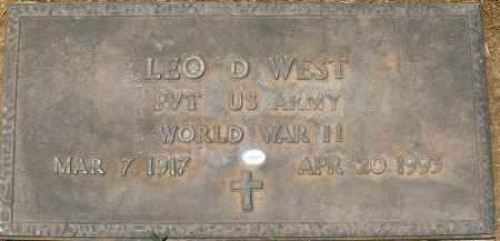 WEST, LEO D. - Maricopa County, Arizona | LEO D. WEST - Arizona Gravestone Photos