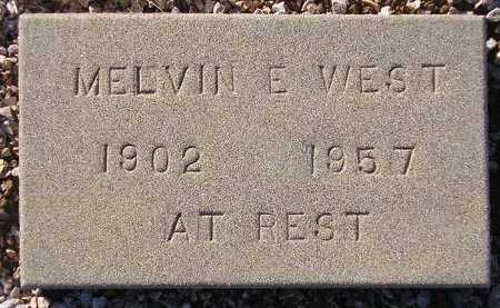 WEST, MELVIN E. - Maricopa County, Arizona | MELVIN E. WEST - Arizona Gravestone Photos