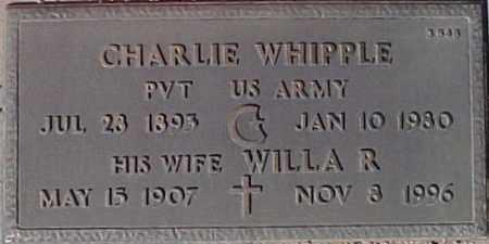 WHIPPLE, WILLA R. - Maricopa County, Arizona | WILLA R. WHIPPLE - Arizona Gravestone Photos