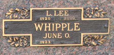 WHIPPLE, LEONARD LEE - Maricopa County, Arizona | LEONARD LEE WHIPPLE - Arizona Gravestone Photos
