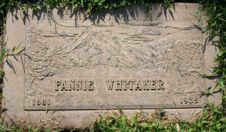 WHITAKER, FANNIE - Maricopa County, Arizona | FANNIE WHITAKER - Arizona Gravestone Photos