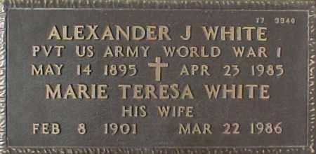 WHITE, ALEXANDER J. - Maricopa County, Arizona | ALEXANDER J. WHITE - Arizona Gravestone Photos