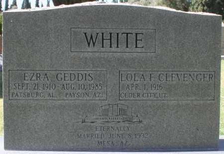 WHITE, LOLA F - Maricopa County, Arizona | LOLA F WHITE - Arizona Gravestone Photos