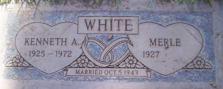 WHITE, KENNETH A. - Maricopa County, Arizona | KENNETH A. WHITE - Arizona Gravestone Photos