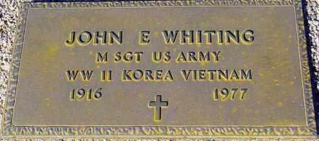 WHITING, JOHN E. - Maricopa County, Arizona   JOHN E. WHITING - Arizona Gravestone Photos