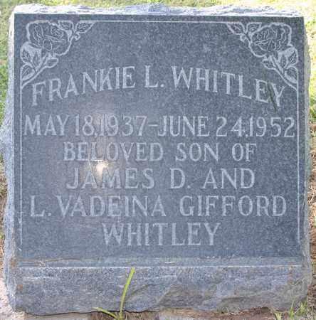 "WHITLEY, FRANK ""FRANKIE"" LEVI - Maricopa County, Arizona | FRANK ""FRANKIE"" LEVI WHITLEY - Arizona Gravestone Photos"