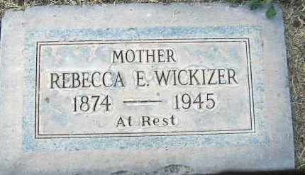 WICKIZER, REBECCA ELLEN - Maricopa County, Arizona | REBECCA ELLEN WICKIZER - Arizona Gravestone Photos