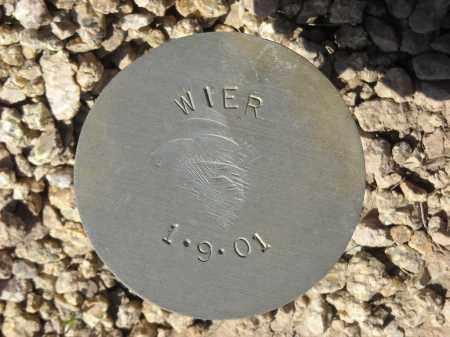 WIER, (NOT LISTED) - Maricopa County, Arizona   (NOT LISTED) WIER - Arizona Gravestone Photos