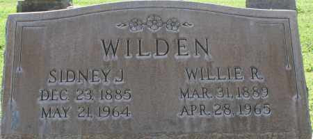 WILDEN, SIDNEY J. - Maricopa County, Arizona | SIDNEY J. WILDEN - Arizona Gravestone Photos