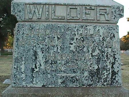 WILDMAN WILDER, JULIA - Maricopa County, Arizona | JULIA WILDMAN WILDER - Arizona Gravestone Photos