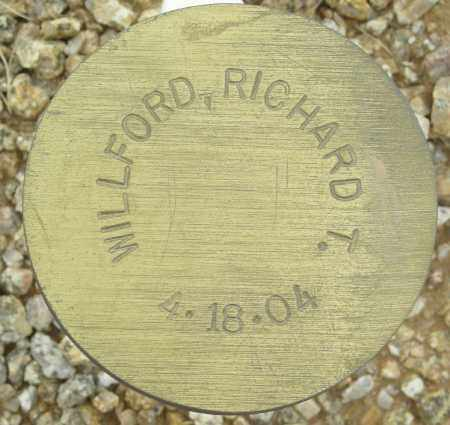 WILLFORD, RICHARD T. - Maricopa County, Arizona   RICHARD T. WILLFORD - Arizona Gravestone Photos