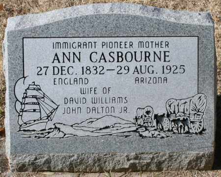 CASBOURNE WILLIAMS, ANN - Maricopa County, Arizona | ANN CASBOURNE WILLIAMS - Arizona Gravestone Photos