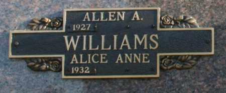 WILLIAMS, ALLEN A - Maricopa County, Arizona | ALLEN A WILLIAMS - Arizona Gravestone Photos