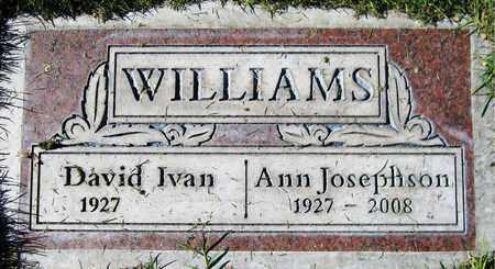 JOSEPHSON WILLIAMS, ANN - Maricopa County, Arizona | ANN JOSEPHSON WILLIAMS - Arizona Gravestone Photos