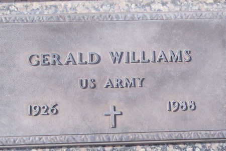 WILLIAMS, GERALD - Maricopa County, Arizona | GERALD WILLIAMS - Arizona Gravestone Photos