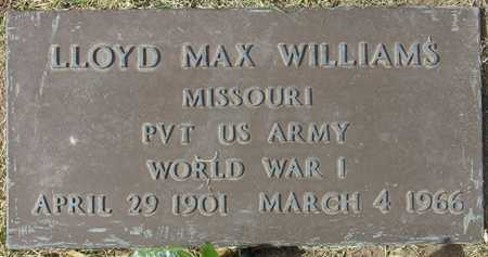 WILLIAMS, LLOYD MAX - Maricopa County, Arizona | LLOYD MAX WILLIAMS - Arizona Gravestone Photos