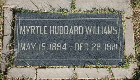 HUBBARD WILLIAMS, MYRTLE - Maricopa County, Arizona | MYRTLE HUBBARD WILLIAMS - Arizona Gravestone Photos