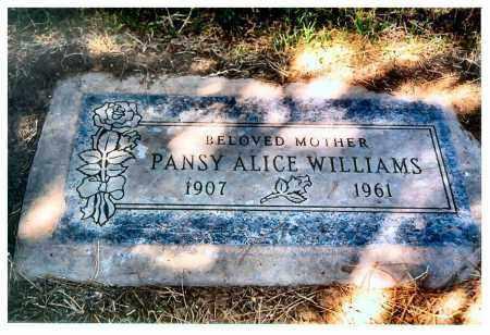WILLIAMS, PANSY - Maricopa County, Arizona   PANSY WILLIAMS - Arizona Gravestone Photos