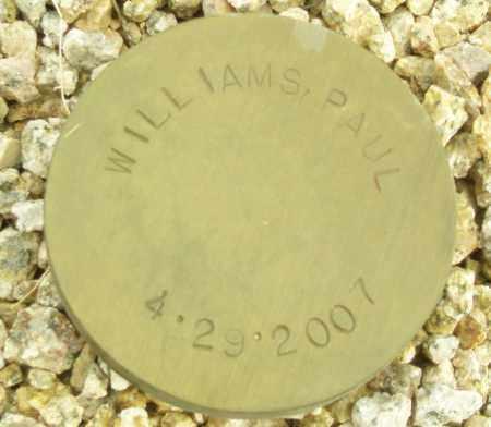 WILLIAMS, PAUL - Maricopa County, Arizona   PAUL WILLIAMS - Arizona Gravestone Photos