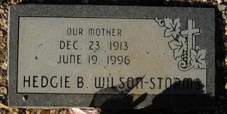 WILSON-STORMS, HEDGIE B. - Maricopa County, Arizona   HEDGIE B. WILSON-STORMS - Arizona Gravestone Photos