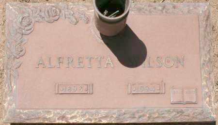 WILSON, ALFRETTA - Maricopa County, Arizona | ALFRETTA WILSON - Arizona Gravestone Photos