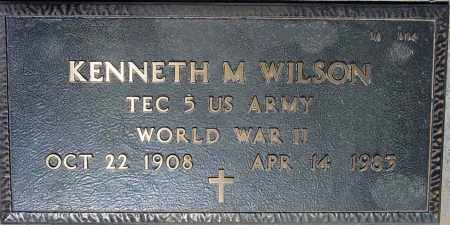 WILSON, KENNETH M. - Maricopa County, Arizona   KENNETH M. WILSON - Arizona Gravestone Photos