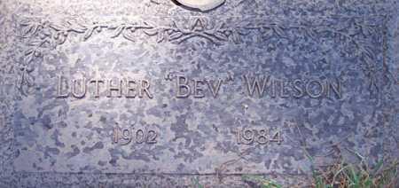 "WILSON, LUTHER ""BEV"" - Maricopa County, Arizona   LUTHER ""BEV"" WILSON - Arizona Gravestone Photos"