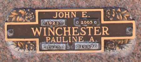 WINCHESTER, PAULINE A - Maricopa County, Arizona | PAULINE A WINCHESTER - Arizona Gravestone Photos