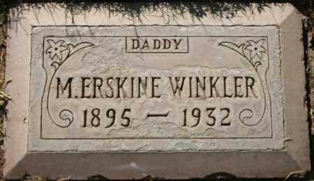 WINKLER, MINOR ERSKINE - Maricopa County, Arizona | MINOR ERSKINE WINKLER - Arizona Gravestone Photos