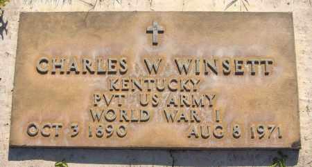 WINSETT, CHARLES W. - Maricopa County, Arizona | CHARLES W. WINSETT - Arizona Gravestone Photos