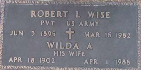 WISE, WILDA A - Maricopa County, Arizona | WILDA A WISE - Arizona Gravestone Photos