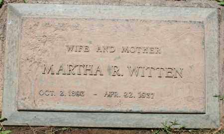 WITTEN, MARTHA R - Maricopa County, Arizona | MARTHA R WITTEN - Arizona Gravestone Photos