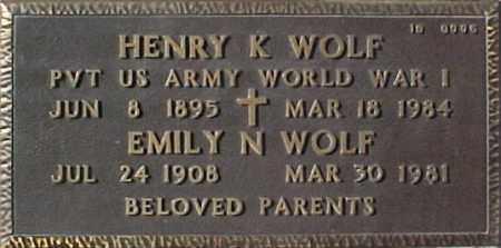 WOLF, EMILY N. - Maricopa County, Arizona | EMILY N. WOLF - Arizona Gravestone Photos