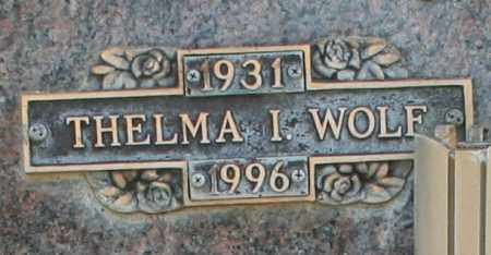 WOLF, THELMA I - Maricopa County, Arizona | THELMA I WOLF - Arizona Gravestone Photos