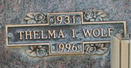 WOLF, THELMA I - Maricopa County, Arizona   THELMA I WOLF - Arizona Gravestone Photos