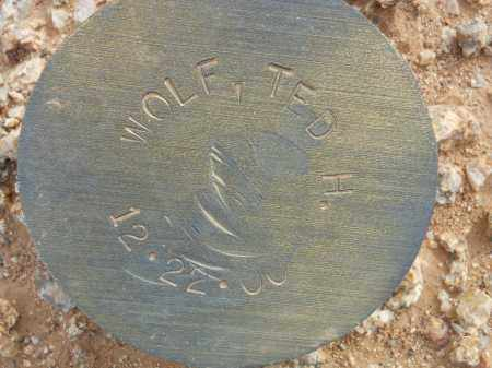 WOLF, TED H. - Maricopa County, Arizona | TED H. WOLF - Arizona Gravestone Photos
