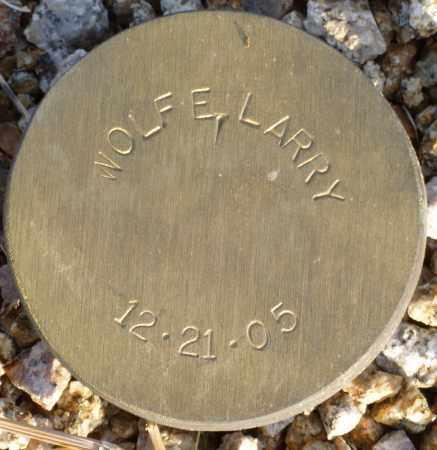WOLFE, LARRY - Maricopa County, Arizona   LARRY WOLFE - Arizona Gravestone Photos