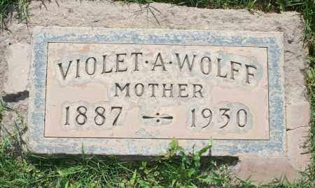 WOLFF, VIOLET A - Maricopa County, Arizona | VIOLET A WOLFF - Arizona Gravestone Photos