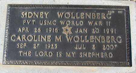 WOLLENBERG, SIDNEY - Maricopa County, Arizona | SIDNEY WOLLENBERG - Arizona Gravestone Photos