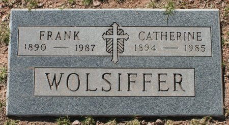 WOLSIFFER, FRANK - Maricopa County, Arizona | FRANK WOLSIFFER - Arizona Gravestone Photos