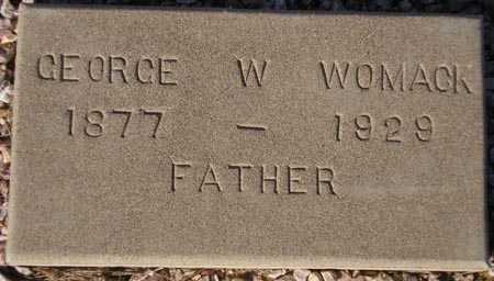 WOMACK, GEORGE W. - Maricopa County, Arizona | GEORGE W. WOMACK - Arizona Gravestone Photos