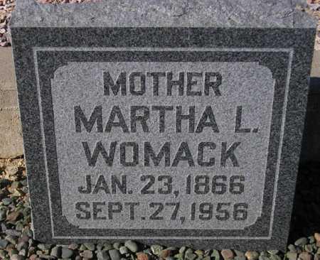 WOMACK, MARTHA L. - Maricopa County, Arizona   MARTHA L. WOMACK - Arizona Gravestone Photos