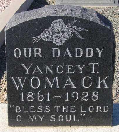 WOMACK, YANCY T(OMBS) - Maricopa County, Arizona   YANCY T(OMBS) WOMACK - Arizona Gravestone Photos
