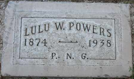 THOMAS WORKMAN POWERS, LULU - Maricopa County, Arizona | LULU THOMAS WORKMAN POWERS - Arizona Gravestone Photos