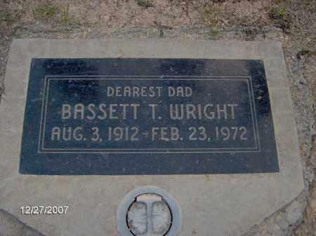 WRIGHT, BASSETT - Maricopa County, Arizona   BASSETT WRIGHT - Arizona Gravestone Photos