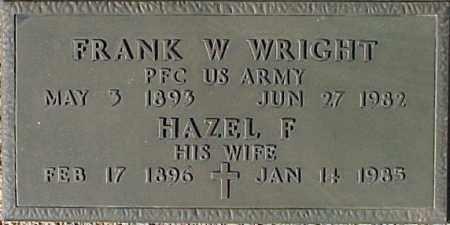 WRIGHT, HAZEL F. - Maricopa County, Arizona | HAZEL F. WRIGHT - Arizona Gravestone Photos