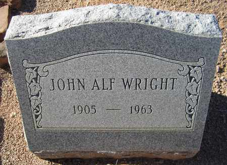 WRIGHT, JOHN ALF - Maricopa County, Arizona | JOHN ALF WRIGHT - Arizona Gravestone Photos