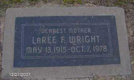 WRIGHT, LAREE F. - Maricopa County, Arizona | LAREE F. WRIGHT - Arizona Gravestone Photos
