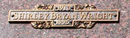 WRIGHT, SHIRLEY BRYAN - Maricopa County, Arizona | SHIRLEY BRYAN WRIGHT - Arizona Gravestone Photos